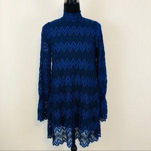 Free People + Simone Mock New Lace Mini Dress